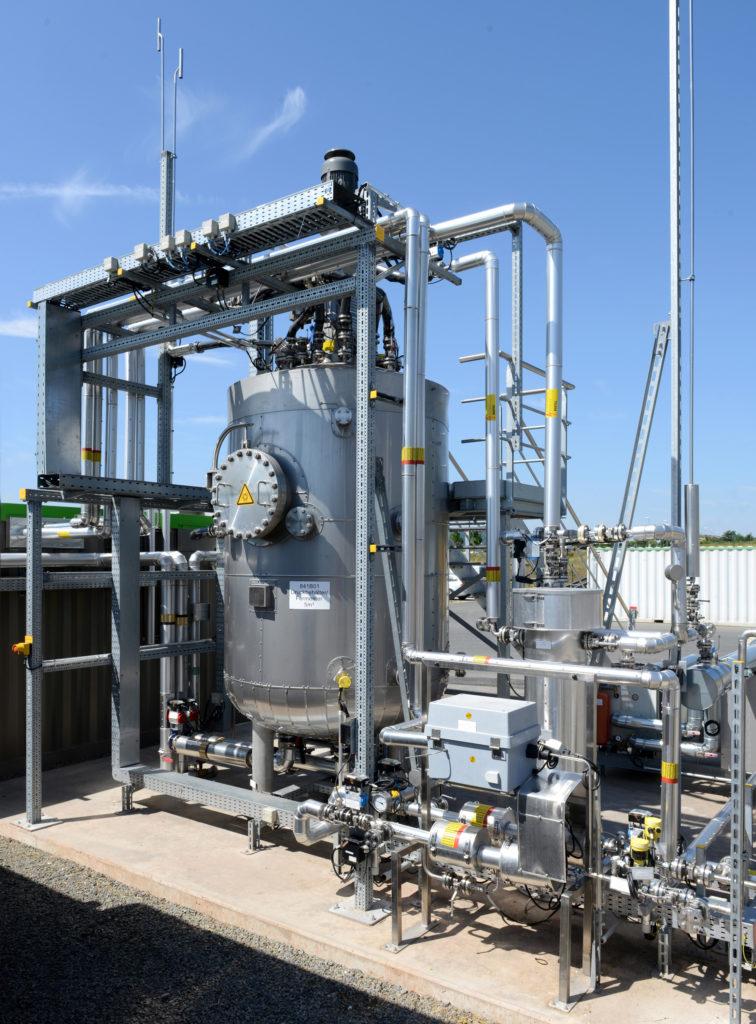 Die Power-to-Gas-Pilotanlage am Firmensitz von Viessmann in Allendorf (Eder). Foto: Viessmann