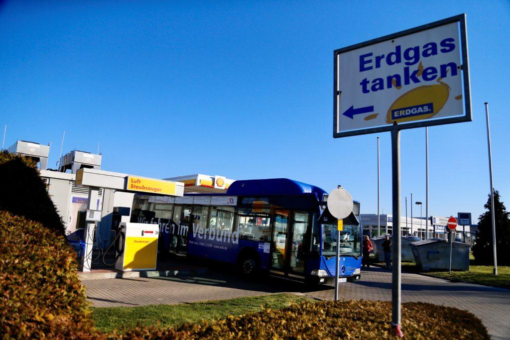 Der Biomethan-Vermarkter bmp greengas liefert 100-prozentiges Biomethan an eine Gastankstelle in Zeitz. Foto: bmp greengas